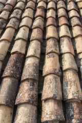 Ocher tile on the roof