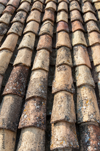 Ocher tile on the roof