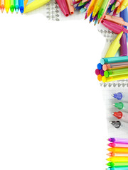 stylos en coin de page