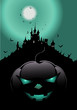 halloween schloss poster