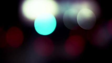Defocused road lights. HD.