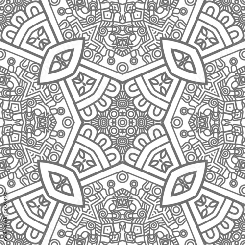 Sticker Square ornamental pattern