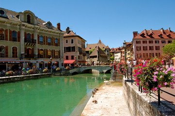 Canaux pittoresques d'Annecy