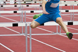 single hurdle runner poster