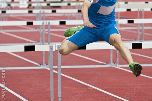 single hurdle runner