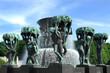 Fountain in Vigeland park Oslo