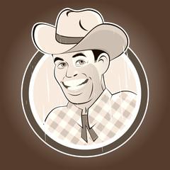 cowboy retro vintage