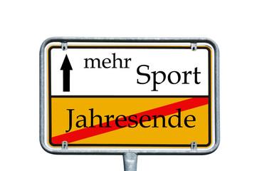 Schild - Guter Vorsatz mehr Sport