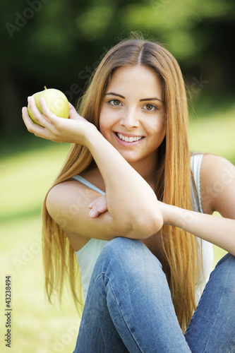 portrait of positive young woman
