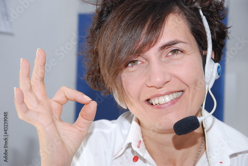 call center,operator woman
