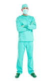 Full length surgeon isolated on white