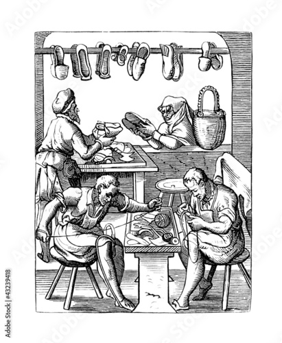 Shoemaker - Cordonnier - Schuster - 17th century