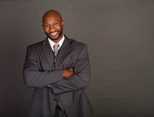 Smiling Young Black Business Man