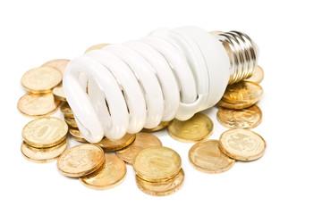 money and energy saving lamp