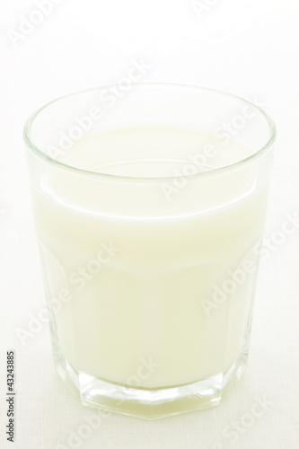 fresh glass of milk