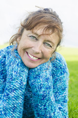 happy smiling mature woman.