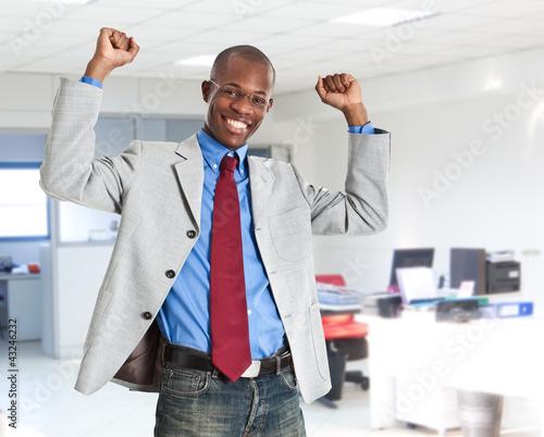 Portrait of an happy businessman