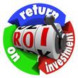 ROI Return on Investment Slot Machine Words Acronym