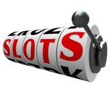 Slots Word Casino Slot Machine Wheels Handle