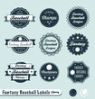 Vector Set: Fantasy Baseball Championship Winner Labels