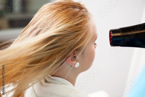 Woman's Hair Being Blow Dried