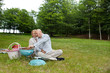 Couple At An Outdoor Picnic