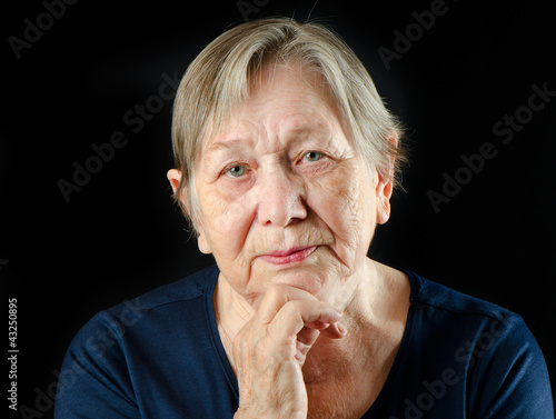 Senior woman's portrait