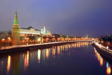 Quay Moskva River. Kremlin