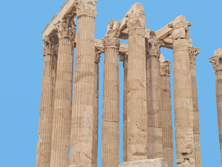 Temple of Olympian Zeus, located in Athens, Greece