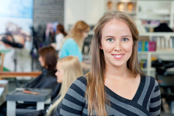 Young Hairdresser Smiling