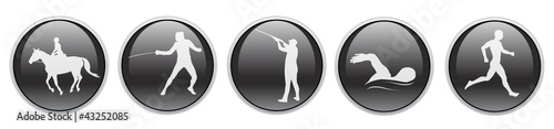Sport icons in 3D button