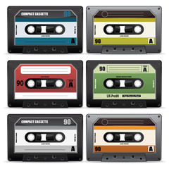 collection of retro cassettes