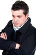 Portrait of a pensive worried man