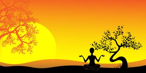 yoga, vector image