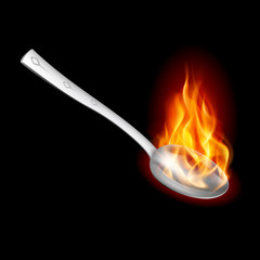 Spoon with Fire