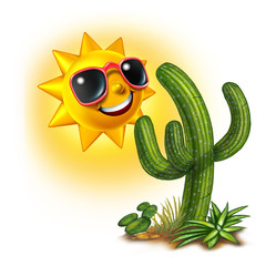 Cactus And Sun