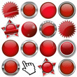 collection of red buttons
