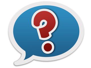 Speech balloon - question mark