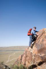 Climber on a rock