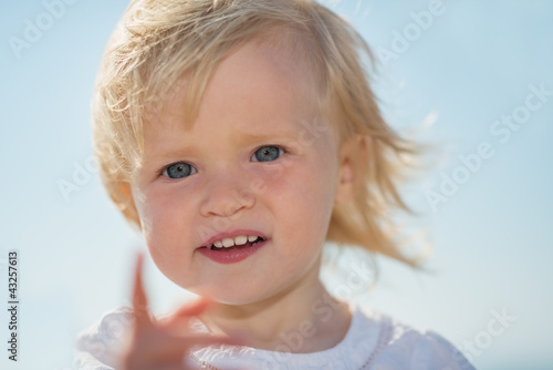 Portrait of lovely baby