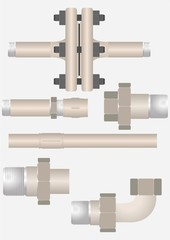 Types of pipe connections.