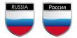 Russian flag emblem
