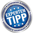 "Button ""Expertentipp"" blau/silber"