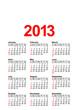 American Calendar 2013