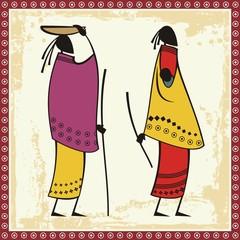 Vector African Masai Women Illustrations