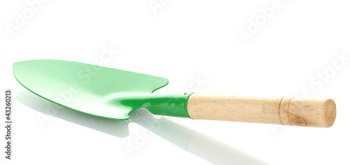 Gardening trowel isolated on white