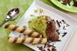 Gelato cioccolato e pistacchio