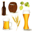 Set with Vector Beer Elements