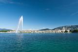 Jet D Eau Water Fountain Geneva Mountain