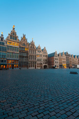 Grote Markt Guild Houses Antwerp Blue Hour